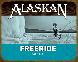 Freeride Pale Ale Biker Wood Sign