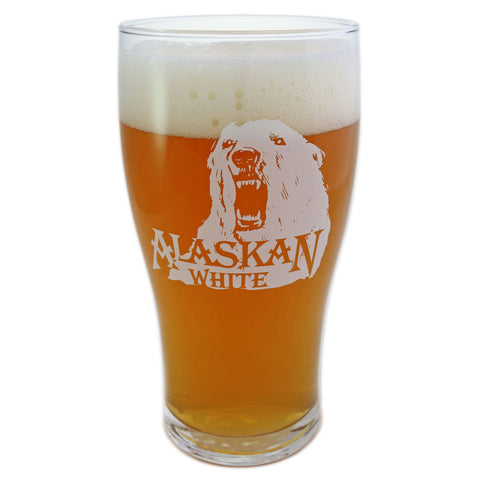 White Ale Growl Glass