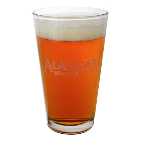 Alaskan Brewing Etched Pint Glass