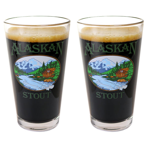 2 Pack Stout Pint Glass Set
