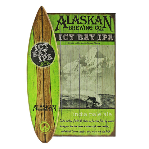 Icy Bay IPA 3D Wooden Sign