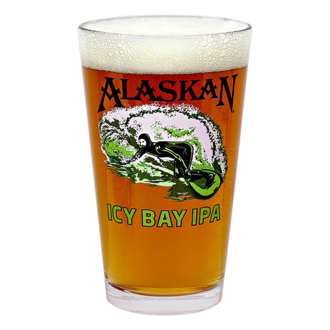 16oz Icy Bay IPA pint glass
