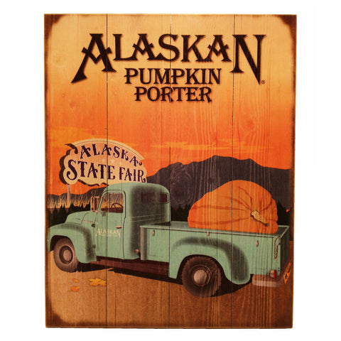 Pumpkin Porter Wooden Sign
