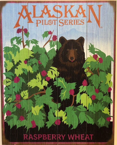 Raspberry Wheat Wood Sign - Pilot Series