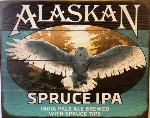 Spruce IPA Wooden Sign