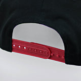 Snap Back Cap Red Mesh Bill