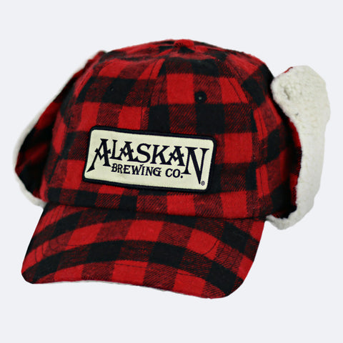 Fleece Buffalo Plaid Cap with Flaps