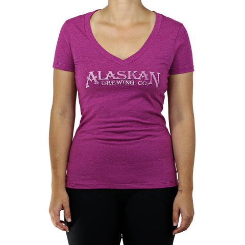 Alaskan V-Neck Server Tee-Ladies