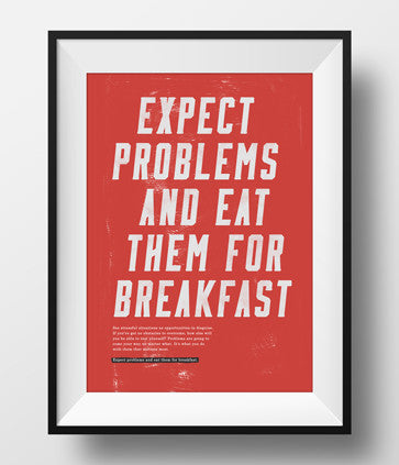 'Expect Problems' Poster