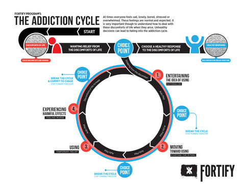 Addiction Cycle - Educational Print