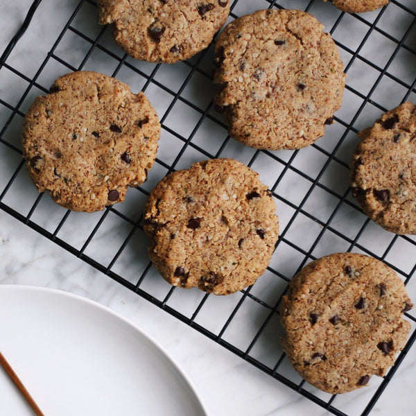 Grain Free Dark Chocolate Hemp Cookies