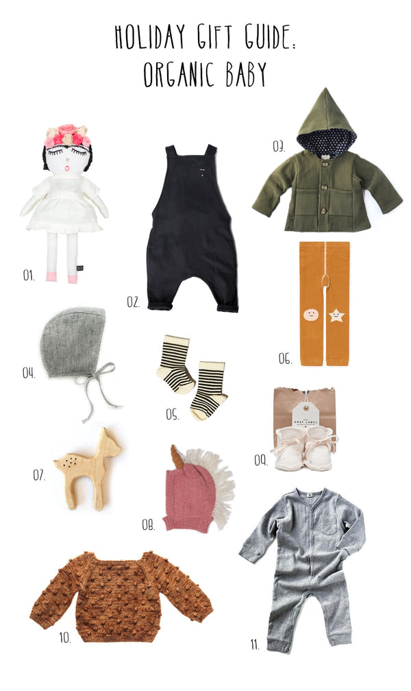 2016 HOLIDAY GIFT GUIDE : ORGANIC BABY