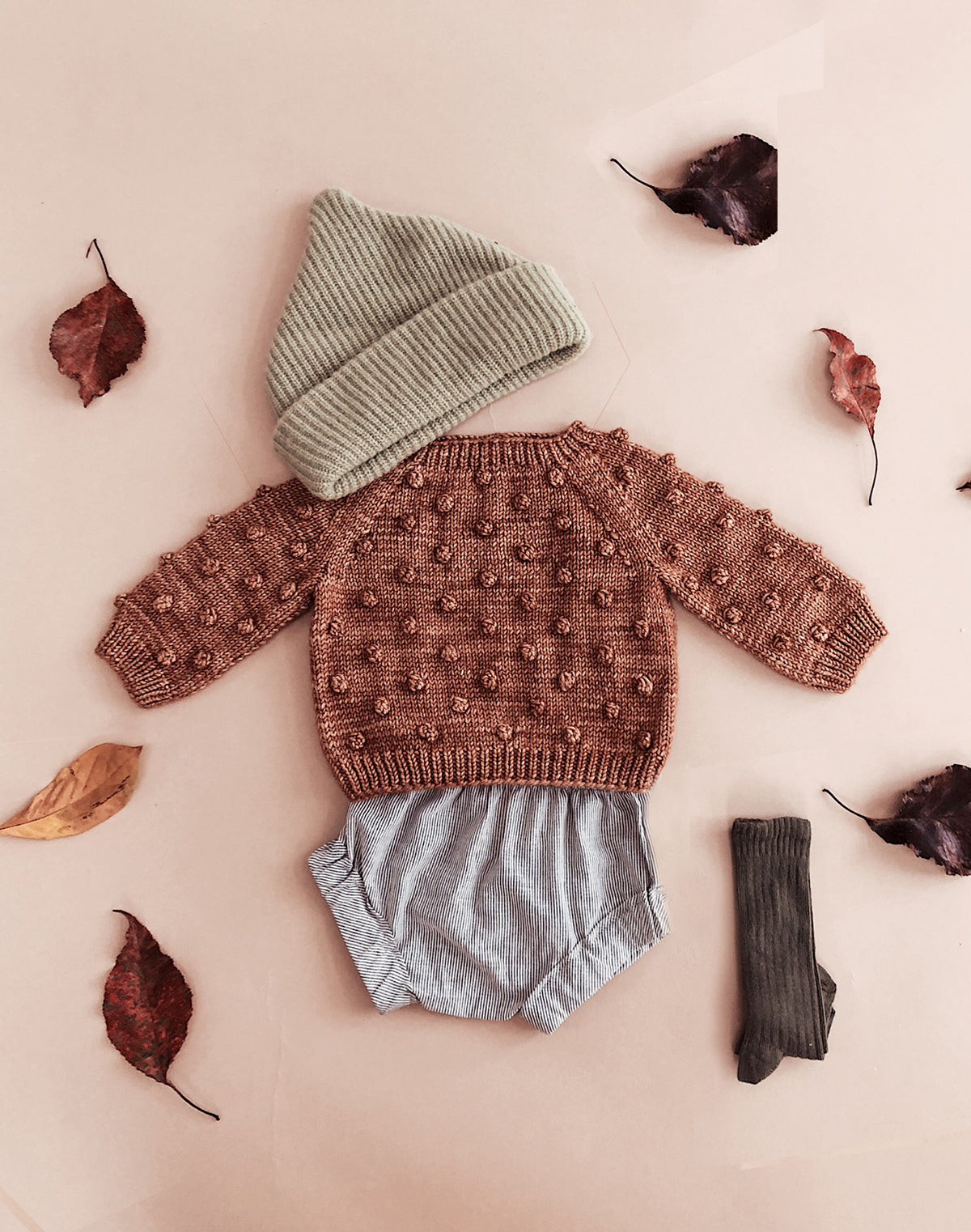 Rose Gold Popcorn Sweater by Misha & Puff