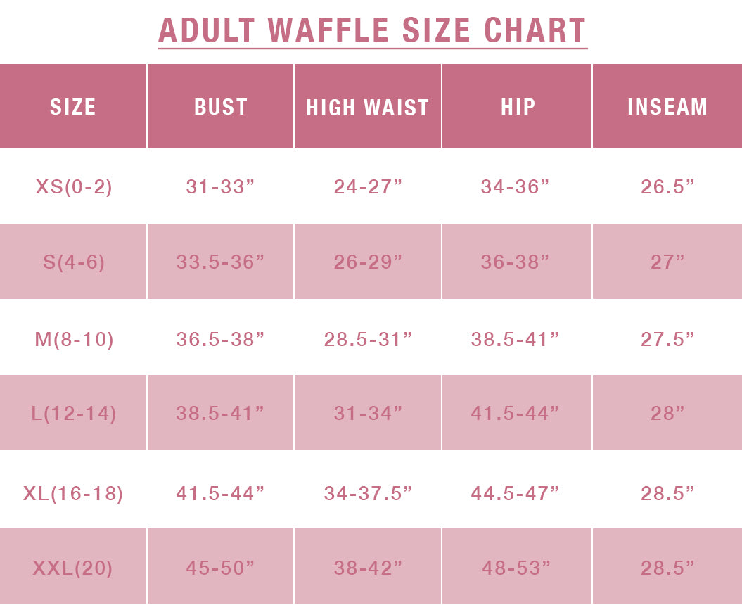 Adult Waffle Size Guide