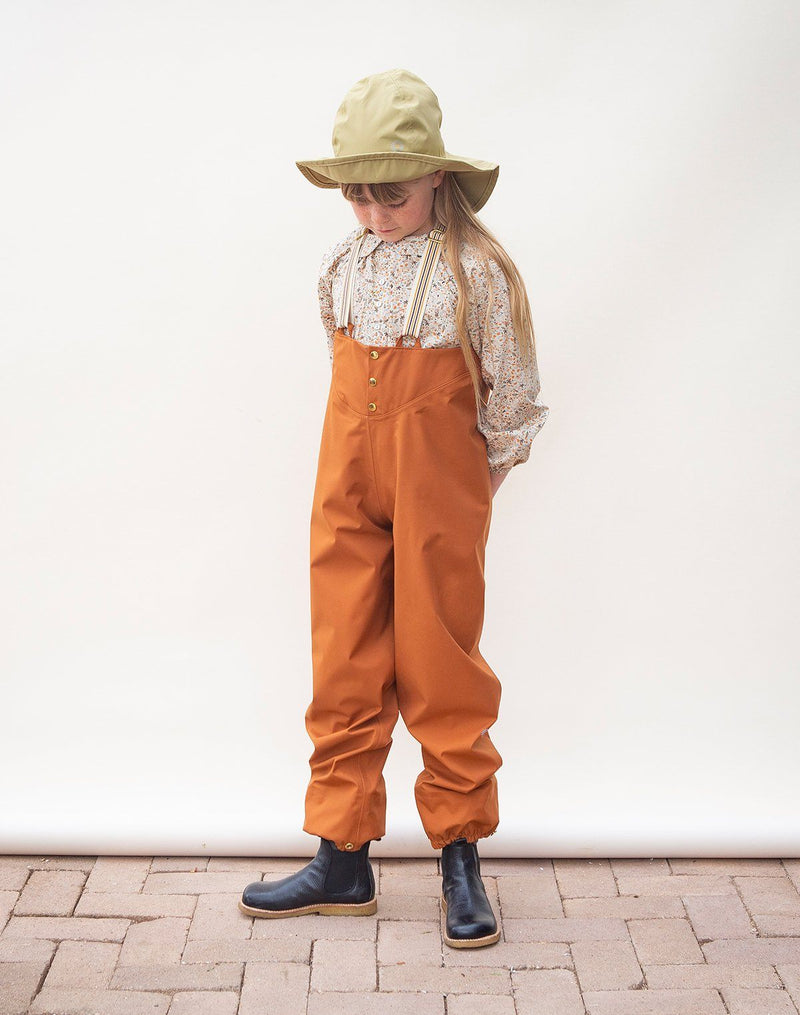 Faire Child Rain Pant in Red Oak