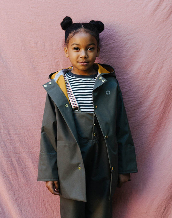 Faire Child Midi Raincoat in Ash