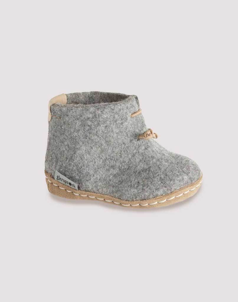 Glerups Wool Baby Boots in Grey
