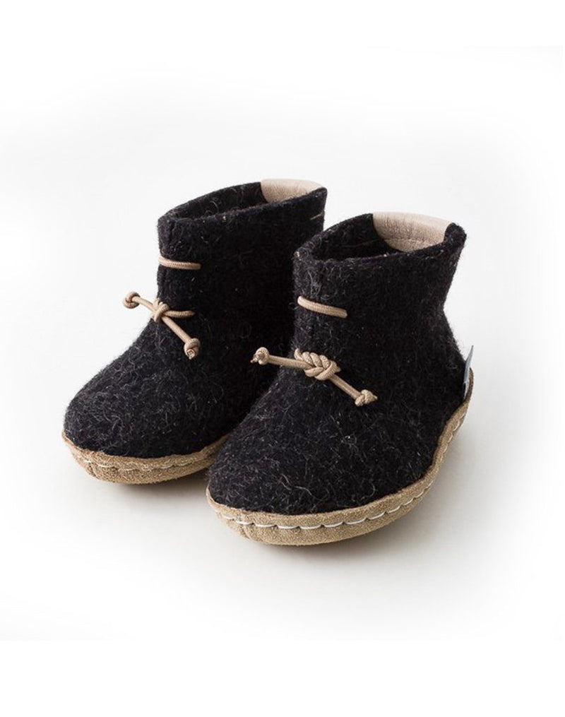 Glerups Wool Baby Boots in Charcoal