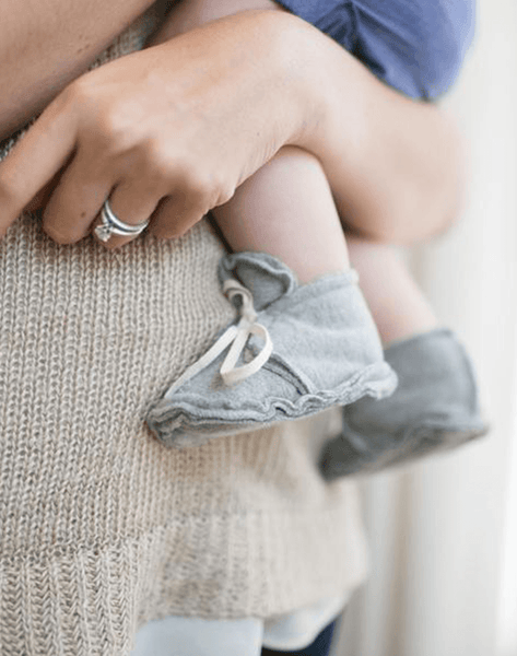 Gray Label Raw Edged Baby Booties | Noble Carriage