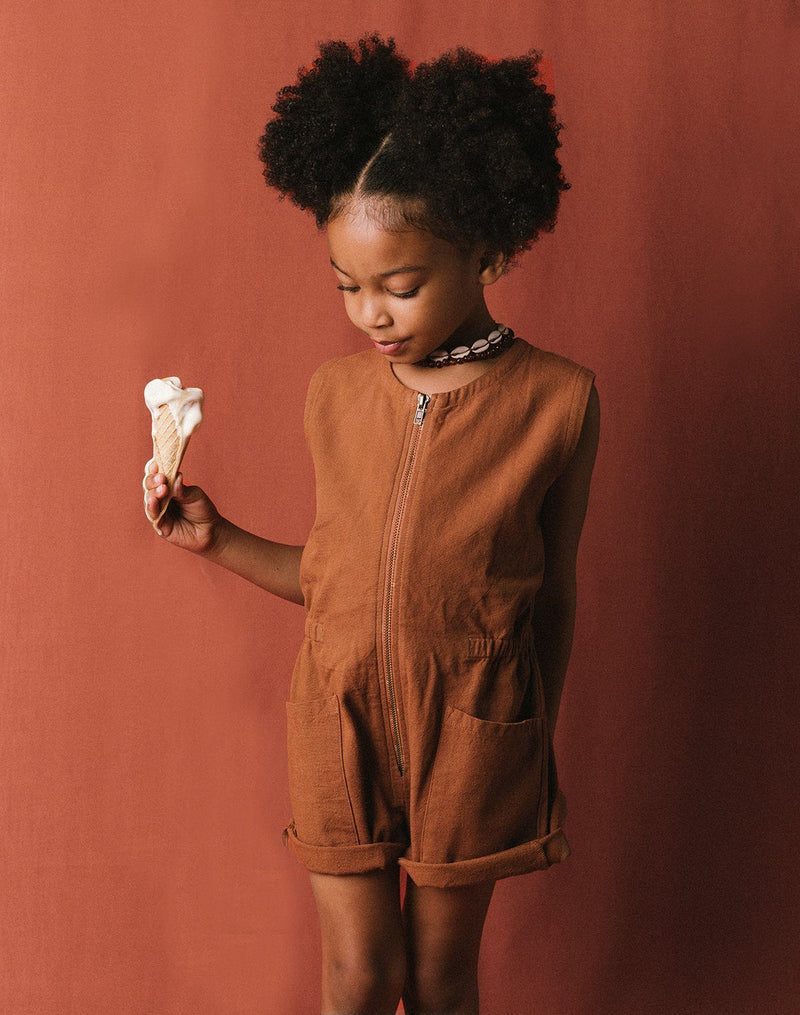 Noble Organic Tank Suit in Cinnamon