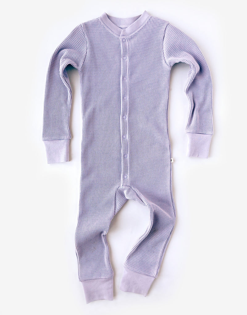Noble Organic Waffle One-Piece Sleeper in Lavender