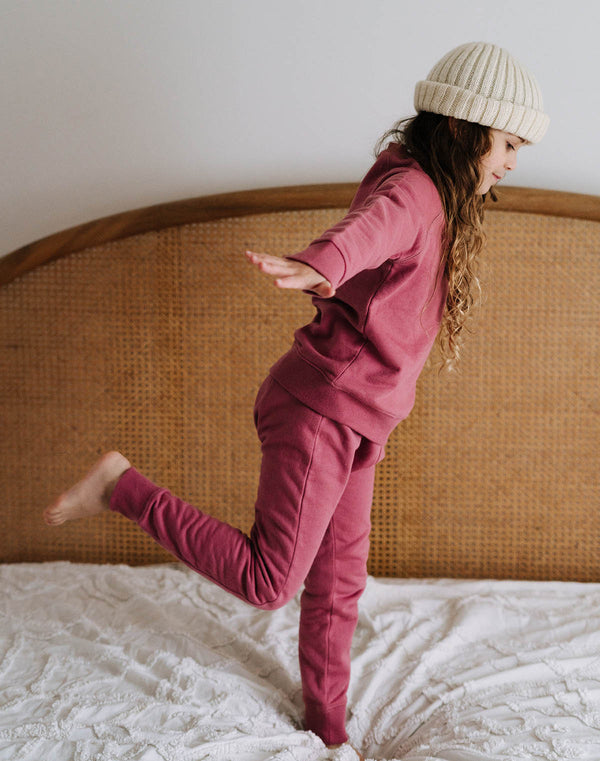 Noble Organic Sweatpants in Elderberry