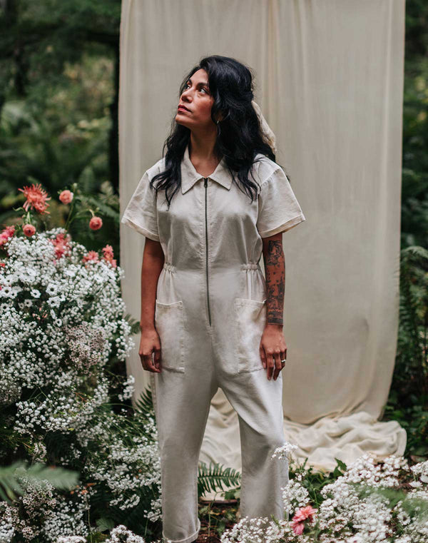 Noble Adult Utility Suit in Oat Milk