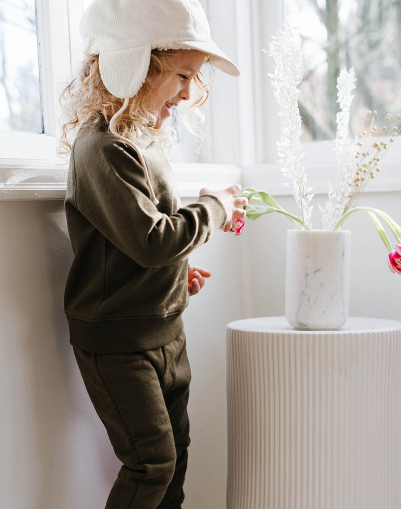 Noble Organic Sweatshirt in Olive