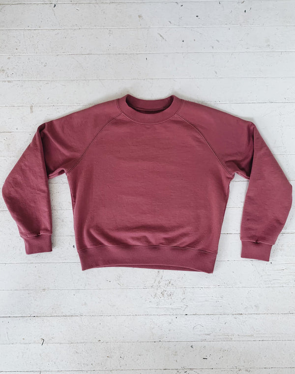 Noble Adult Organic Sweatshirt in Elderberry