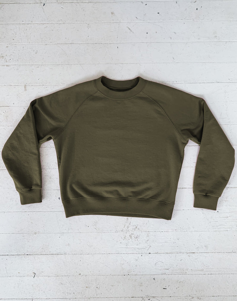 Noble Adult Organic Sweatshirt in Olive