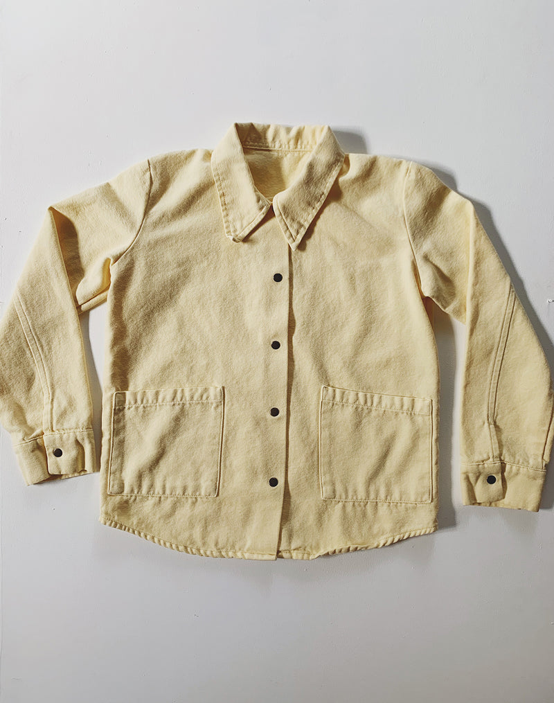 Noble Organic Chore Jacket in Buttercream