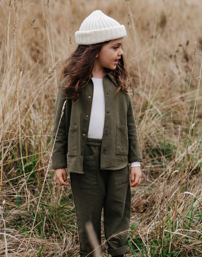 Noble Organic Chore Jacket in Olive