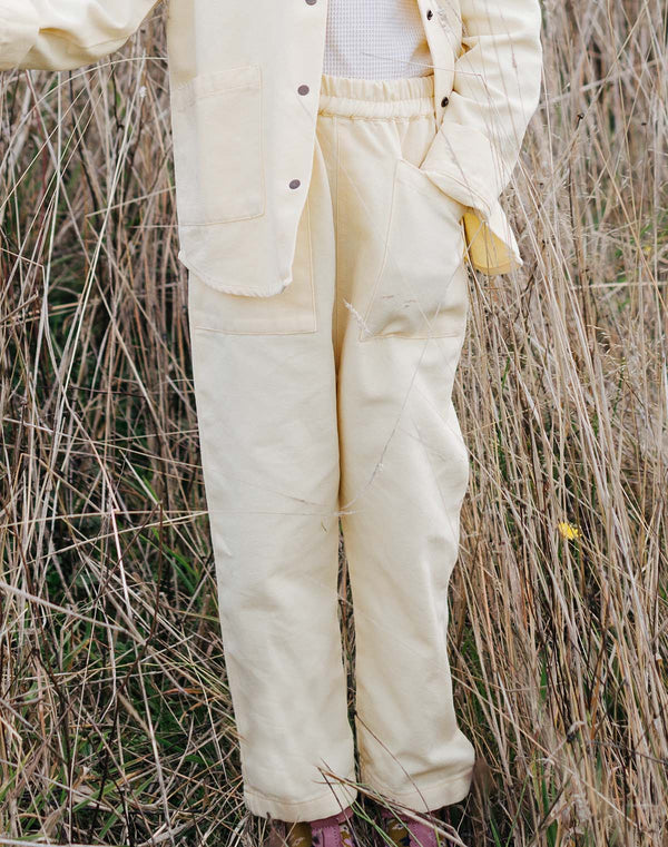Noble Organic Chore Pant in Buttercream