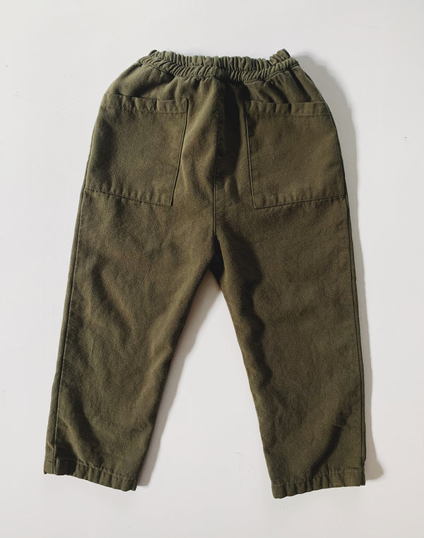 Noble Organic Chore Pant in Olive