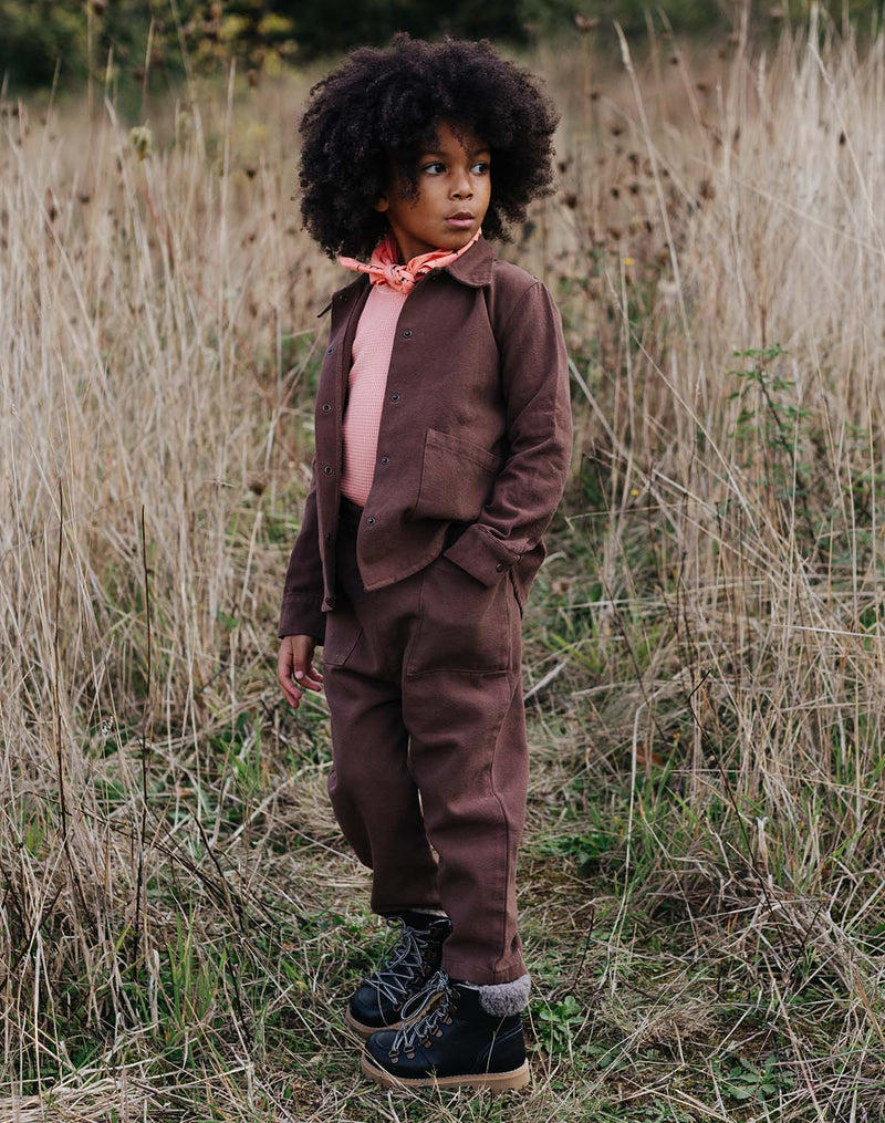 Noble Organic Chore Pant in Cocoa