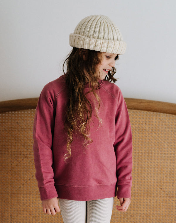 Noble Organic Sweatshirt in Elderberry