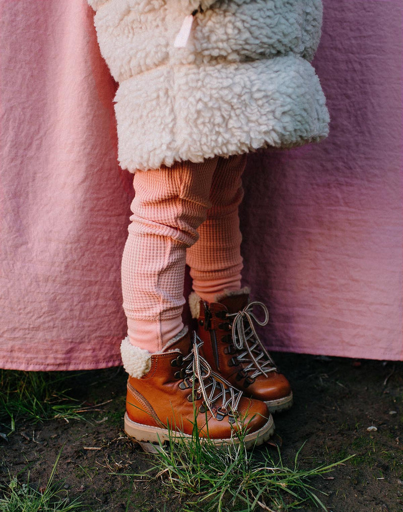 Petit Nord Shearling Winter Boot in Cognac
