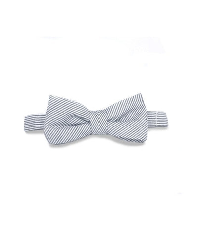 Tasty Ties Grey Striped Baby Bow Tie