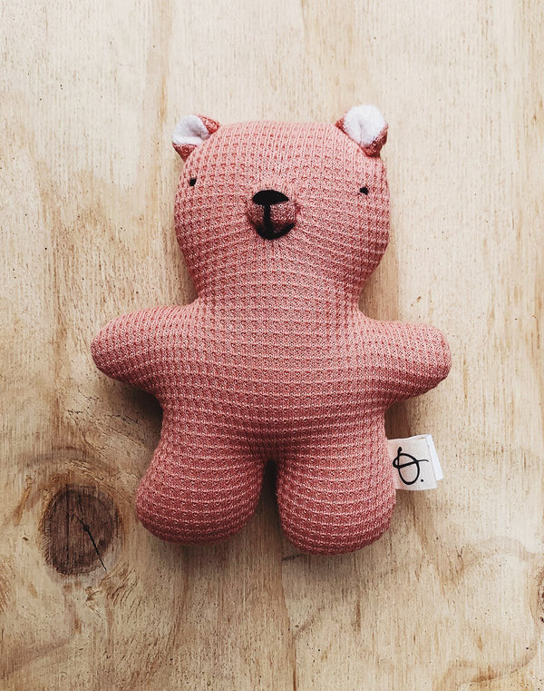 Noble X Ouistitine Waffle Bear in Pink Sea Salt
