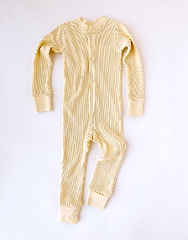 Noble Organic Waffle One-Piece Sleeper in Buttercream