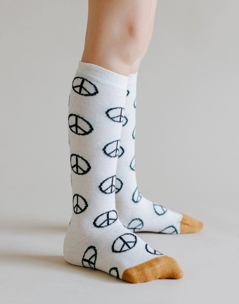 Hansel From Basel Mini Peace Out Knee Socks