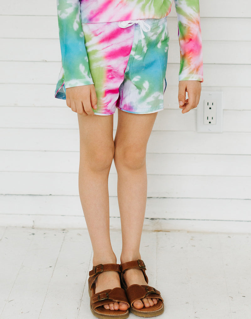 Seaesta Surf Sea Ripple Boardshorts in Neon Tie Dye
