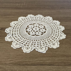 "Marigold Crochet Doilies Round White 91/2"" Inch Set of 12"