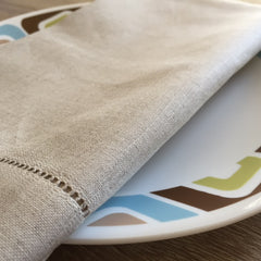 "Hemstitch Dinner Napkin Natural 22"" Inch"