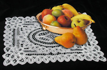 "Battenburg Lace Placemat Oblong White 14""x20"""