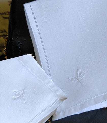"Sweet Basil Handkerchief Square White 10"" Inch"