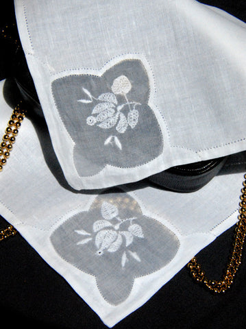 Sweet Lotus Handkerchief White