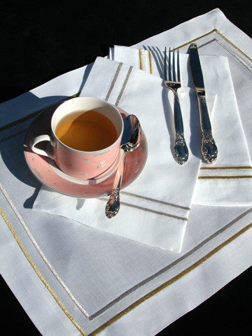 Gold / Silver Embroidered Placemat Set