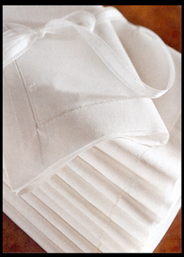 "Hemstitch Luncheon Napkin White 18"" Inch w/ 3/4"" Border"