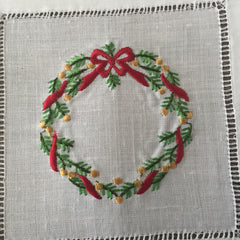 "Christmas Evergreen Cocktail Napkin 6"" Inch"